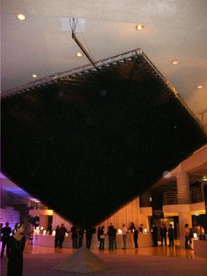gauzes black ceiling