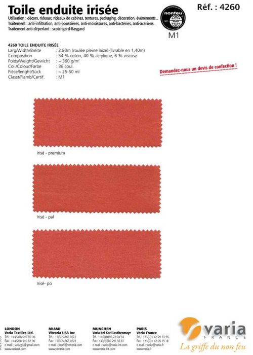 4260 Toile Enduite Irisée 1