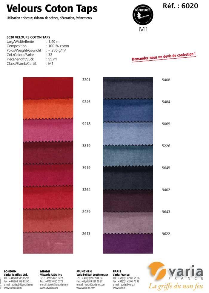 6020 Velours Coton Taps 1