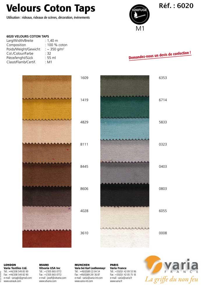 6020 Velours Coton Taps 2