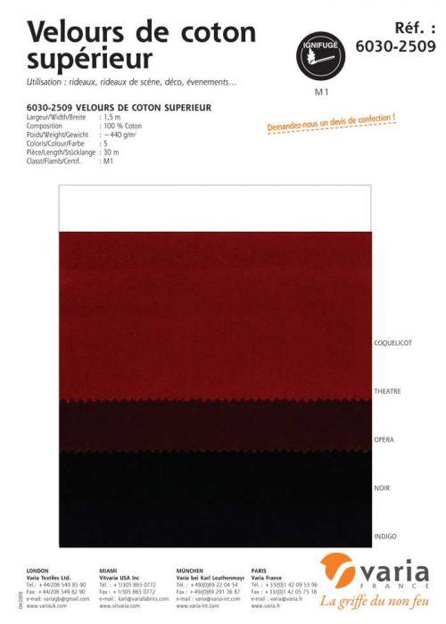 6030-2509 Velours de Coton Supérieur