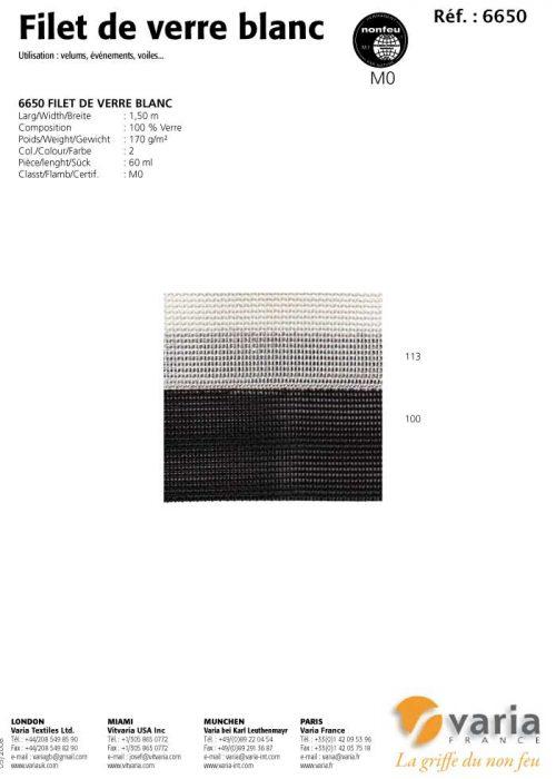 6650 Filet de Verre Blanc