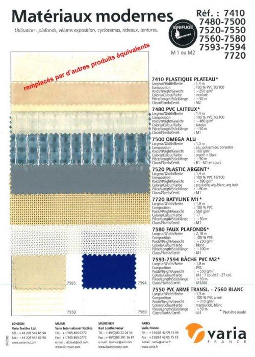 7410-7720 Matériaux Modernes