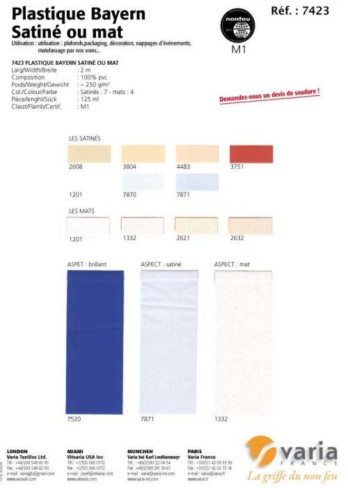 7423 Plastique Bayern Satiné ou mat
